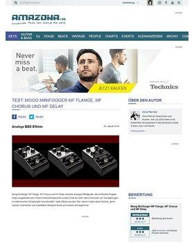 Moog Minifooger MF Flange, MF Chorus und MF Delay