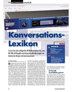 Konversations - Lexicon MX 300