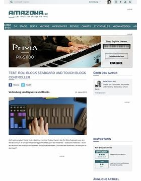 Roli Block Seaboard, Touch Block