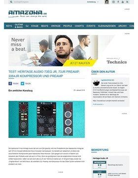 Heritage Audio 73EQ JR, 73JR Preamp, 2264JR Kompressor und Preamp