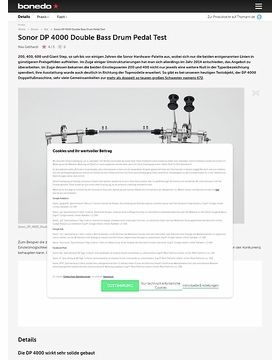 Sonor DP 4000 Double Bass Drum Pedal