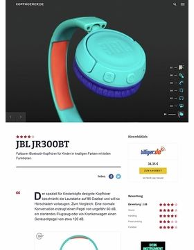 JBL by Harman JR300BT Teal