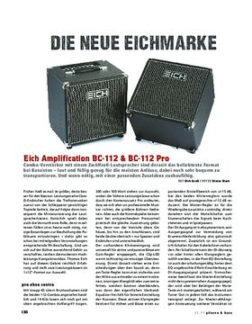 Eich Amplification BC-112 & BC-112 Pro