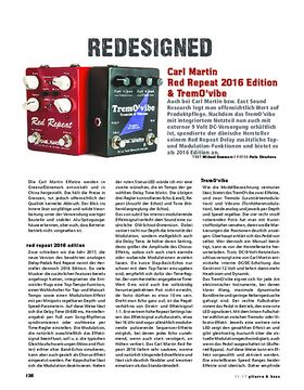 Carl Martin Red Repeat 2016 Edition & TremO´vibe