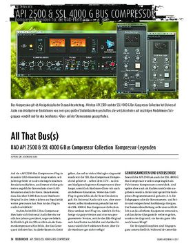 UAD API 2500 & SSL 4000 G Bus Compressor Collection