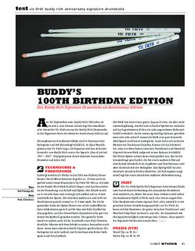 Vic Firth Buddy Rich Anniversary Signature Drumsticks