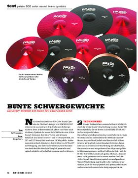 Paiste 900 Color Sound Heavy Cymbals