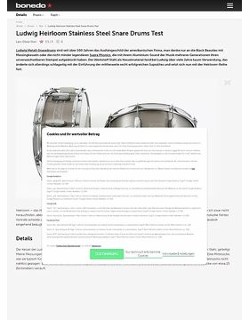 Ludwig Heirloom Stainless Steel Snare Drums