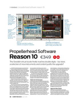 Propellerhead Software Reason 10