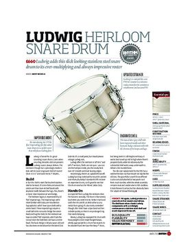 LUDWIG HEIRLOOM SNARE DRUM
