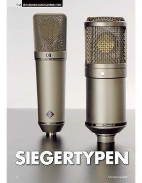 Siegertypen: Großmembranmikrofone