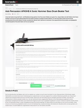 Axis Percussion Sonic Hammer Bass Drum Beater