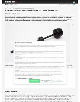 Axis Percussion APASTB Standard Bass Drum Beater