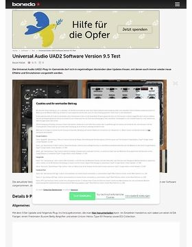 Universal Audio UAD2 Software Version 9.5