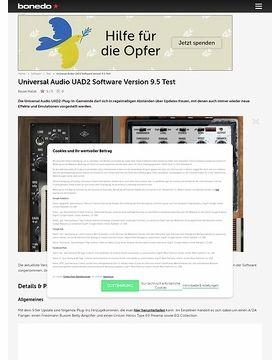 Universal Audio UAD2 Software Version 9.5