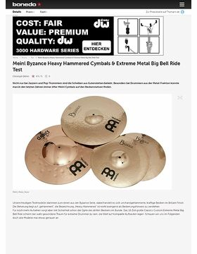 Meinl Byzance Heavy Hammered Cymbals & Extreme Metal Big Bell Ride