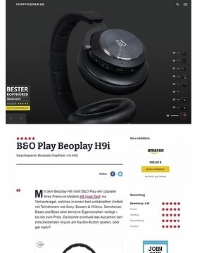 B&O Play H9i Black