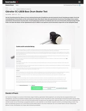 Gibraltar SC-LBDB Bass Drum Beater