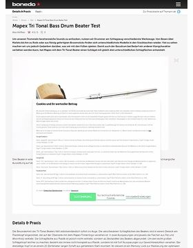 Mapex Tri Tonal Bass Drum Beater