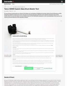 Tama CB90R Gummi Bass Drum Beater