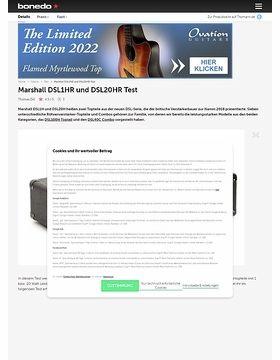 Marshall DSL1HR und DSL20HR