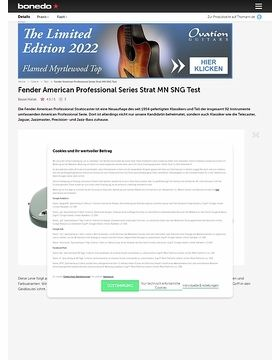 Fender American Professional Series Strat MN