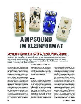 Lovepedal Super Six, COT50, Purple Plexi & Champ