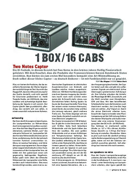 Two Notes Captor, Load-Box & Speaker Sim