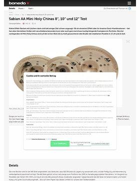"Sabian AA Mini Holy Chinas 8"", 10"" und 12"""