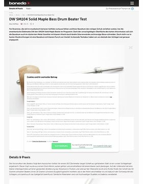 DW SM104 Solid Maple Bass Drum Beater