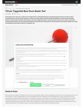 TDrum Triggerball Bass Drum Beater