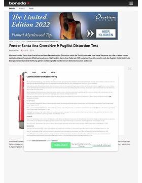 Fender Santa Ana Overdrive & Pugilist Distortion