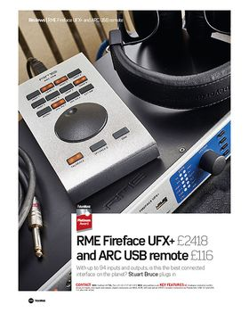 RME FireFace UFX+ and ARC USB Remote