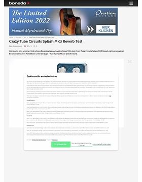 Crazy Tube Circuits Splash MK3 Reverb