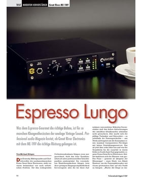 Espresso Lungo Great River ME-1NV