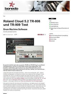 Roland Cloud 5.2 TR-808 und TR-909 Test