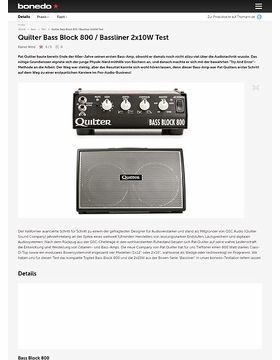 Quilter Bass Block 800 / Bassliner 2x10W