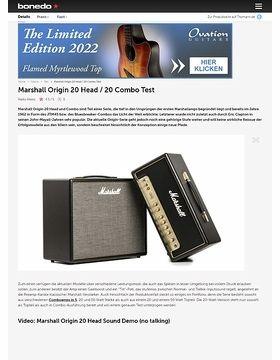 Marshall Origin 20 Head / 20 Combo