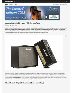 Marshall Origin 20 Head / 20 Combo