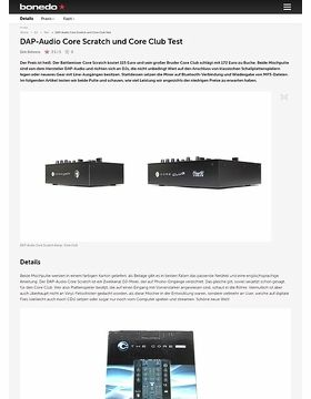 DAP-Audio Core Scratch und Core Club