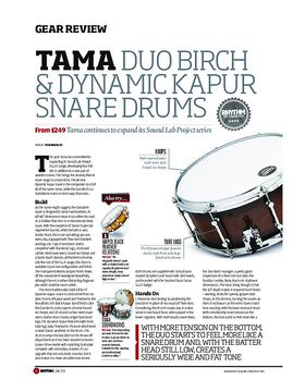 Tama Duo Birch and Dynamic Kapur Snare Drums