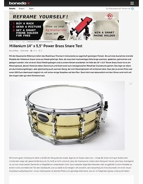 "Millenium 14"" x 5,5"" Power Brass Snare"