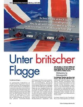 Unter britischer Flagge: AMS Neve 1073 DPD