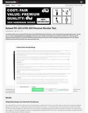 Roland PM-100 & PM-200 Personal Monitor