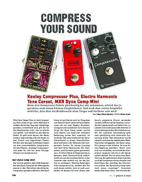 Vergleichstest! Keeley Compressor Plus, Electro Harmonix Tone Corset, MXR Dynacomp Mini
