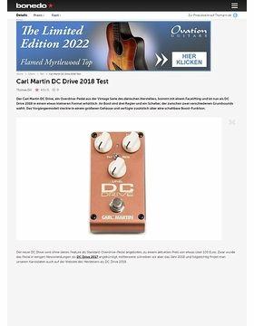 Carl Martin DC Drive 2018