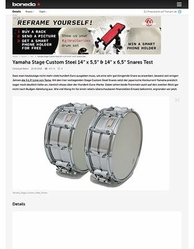 "Yamaha Stage Custom Steel 14"" x 5,5"" & 14"" x 6,5"" Snares"