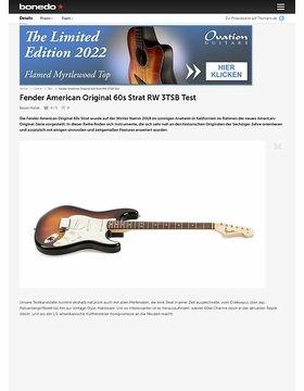 Fender American Original 60s Strat RW