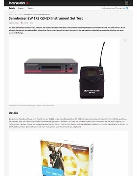 Sennheiser EW 172 G3-EX Instrument Set