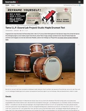 Tama S.L.P. (Sound Lab Project) Studio Maple Drumset